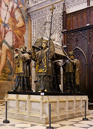 The tomb of Christopher Columbus (Seville cath...