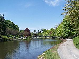 English: Washington Park Lake in Albany, New York