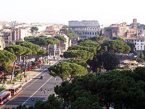 Roma - Via dei Fori Imperiali vista dal Vittoriano