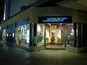 Bose retail store located in Century City, LA, USA