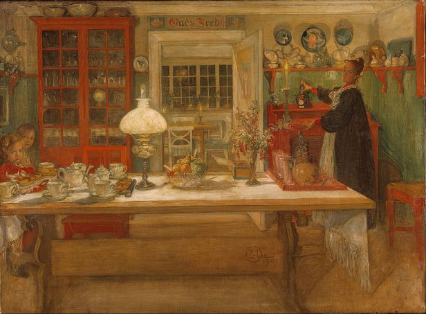 """""""Getting Ready for a Game"""" by Carl Larsson"""