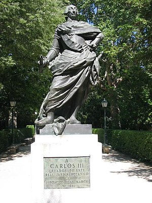 Charles III, statue du Real Jardín Botánico de...