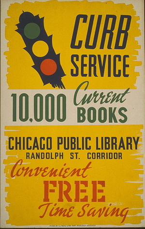 Poster for bookmobile service of the Chicago P...