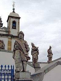 Esculturas em pedra-sabão do Mestre Aleijadinho em Congonhas, Minas Gerais.