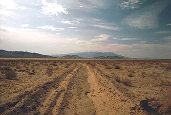 Death Valley,Desert,sand road mud near Shoshones