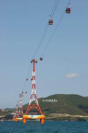 Gondola lift to Vinpearland, Nha Trang