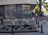 The monument marking the site of the assassination