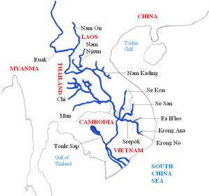 Mekong and its main tributaries.