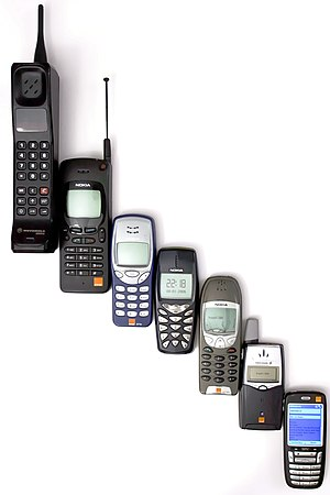English: Mobile phone evolution