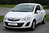 Opel Corsa 1.2 ecoFLEX Selection (D, Facelift) – Frontansicht, 13. Juni 2011, Heiligenhaus.jpg