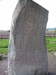 La piedra de Rök estela rúnica medieval.