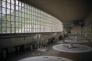 English: Generator Hall of Sayano–Shushenskaya...