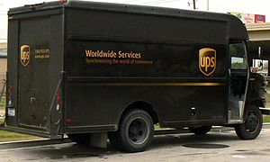 English: A United Parcel Service Van (package ...