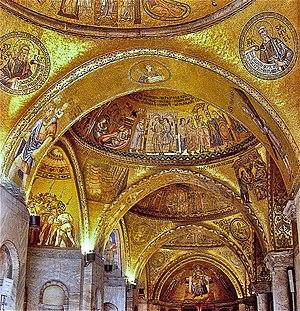 English: St. Mark's Basilica, Venice. detail o...