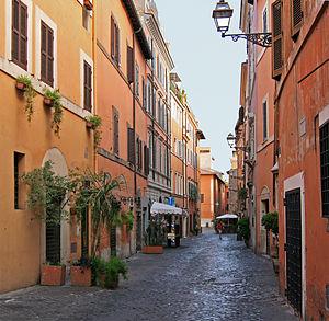 English: Via della Scala, Trastevere, Rome.