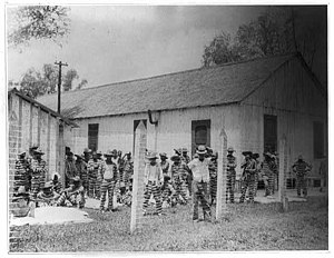 Angola Prison -- Leadbelly in the foreground