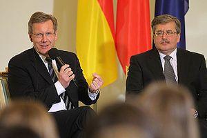 Polski: Bronisław Komorowski i Christian Wulff...