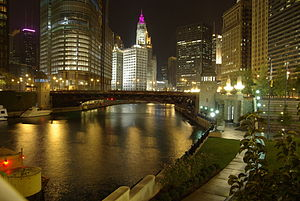 Chicago River @ night