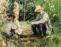Eugene Manet and His Daughter in the Garden 1883 Berthe Morisot.jpg