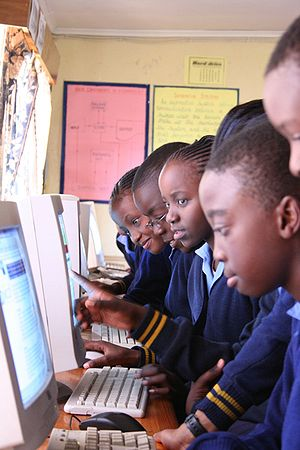 Students from Rhodes Park Secondary School, Za...