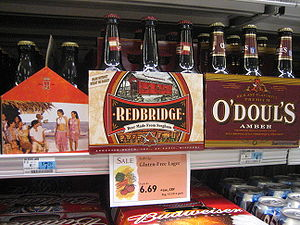 Gluten free beer made from sorghum in an Ameri...