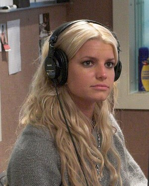 Jessica Simpson at KBKS radio station in Seatt...