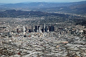 English: Downtown Los Angeles as seen from my ...