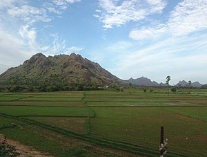 Landscape near Madurai, Tamil Nadu, India seen...