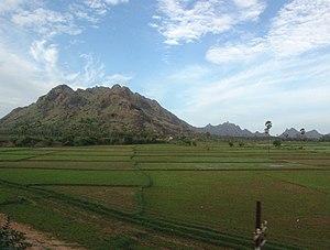 Landscape near Madurai, Tamil Nadu, India seen...