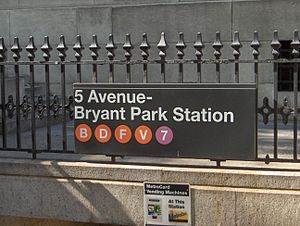 42nd Street / Fifth Avenue – Bryant Park (New ...