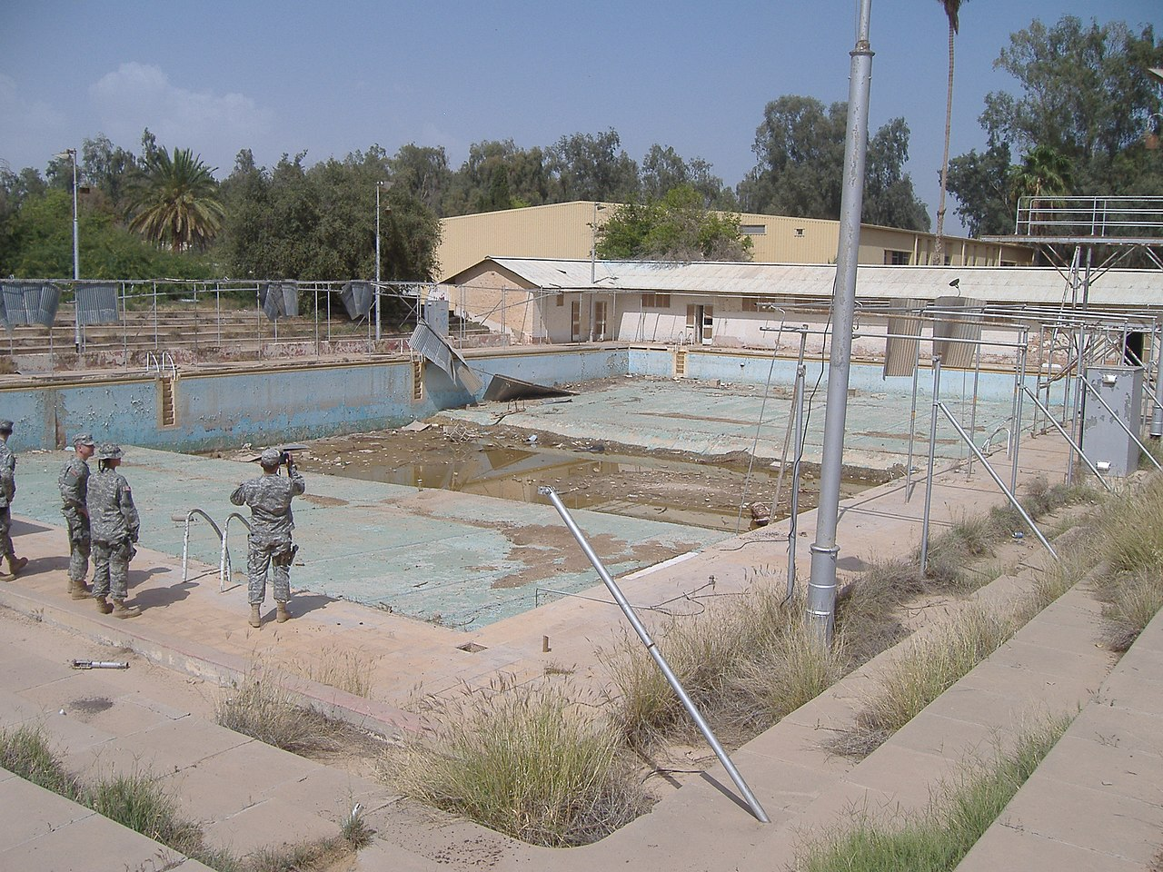 May 2007 view of the RAF Habbaniyah Olympic pool by U.S. troops