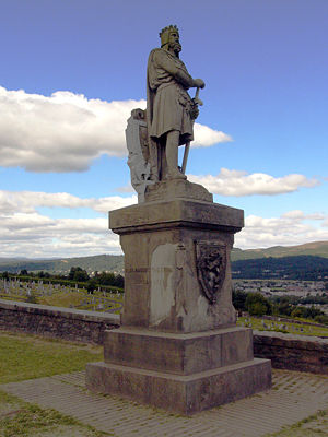 Statue of Robert the Bruce near the Stirling C...