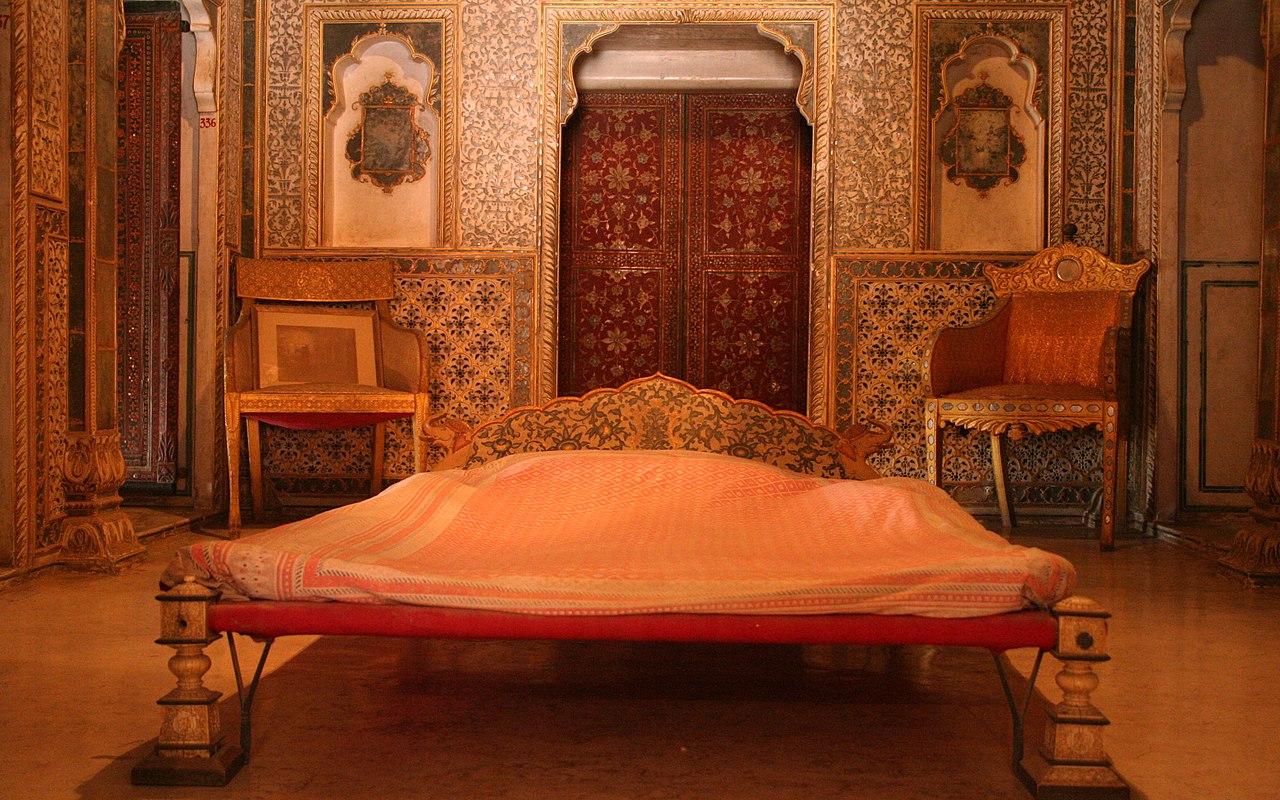 FileRoyal Bedroom At Chandra Mahal Junagarh Fort