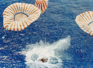 Apollo Command Module splashdown.