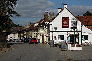 English: The Street, Stratford St Mary Looking...
