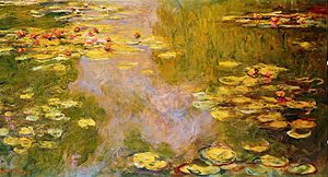 English: The Water Lily Pond ((1919) by Claude...