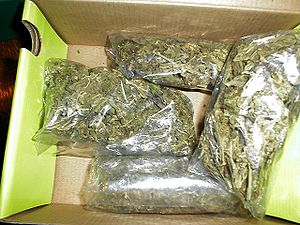 Four ounces of low-grade marijuana, usually re...
