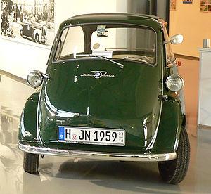 Deutsch: BMW Isetta als Fahrzeug der Polizei N...