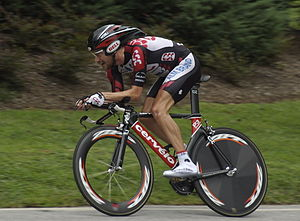 Dave Zabriskie attacking the final 3 kilometer...