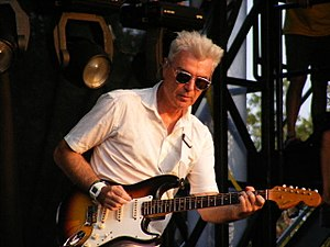 English: David Byrne playing at Austin City Li...