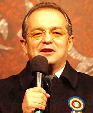 Emil Boc speaking.