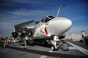 Grumman A6 Intruder displayed with wings folde...