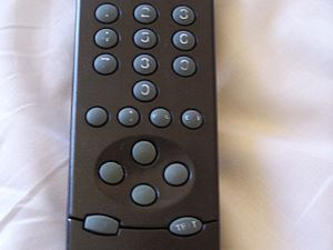 Hotel room - I love this remote!