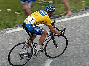 Lance Armstrong at the 2005 Tour de France.
