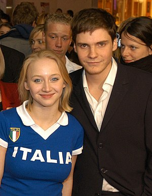 German actor Daniel Brühl and actress Anna Mar...