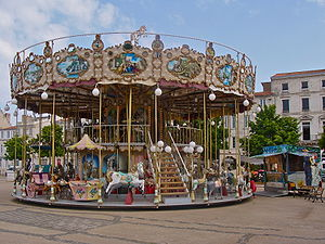 A french old fashioned merry-go-round...