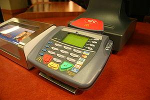 Photo of Debit Card swipe machine from Rest St...