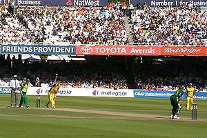 Brett Lee bowling at Lords against Pakistan. I...