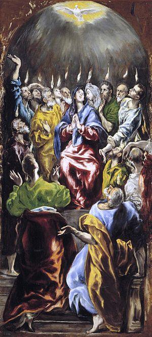 Pentecostés. Óleo sobre lienzo, 275 × 127 cm. ...