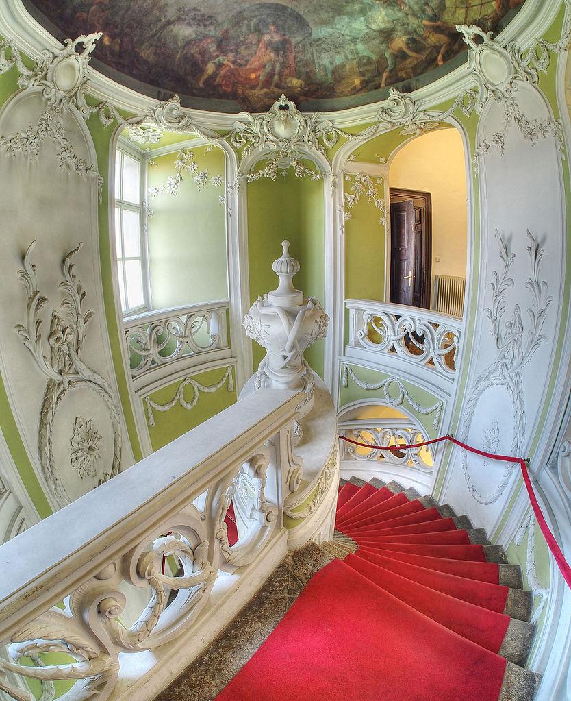 FileRococo Staircase Gruber Mansion Sloveniajpg